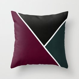 Noir Series - Red & Forest Throw Pillow