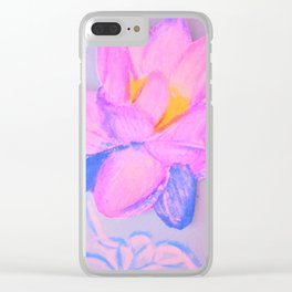 Vivid lotus Clear iPhone Case