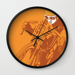Motorcycle Board Track Racer 6 Wall Clock