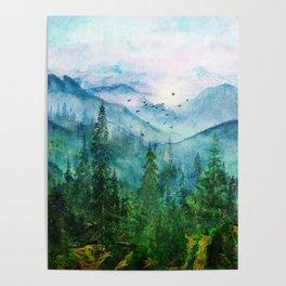 Spring Mountainscape Poster