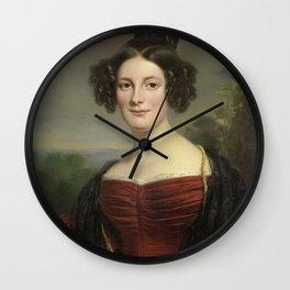 Jan Adam Kruseman - Catharina Annette Fraser (1815-92) Wall Clock