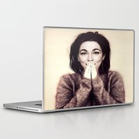 bjork Laptop & iPad Skins featuring Mommie Bjork by Wanker & Wanker