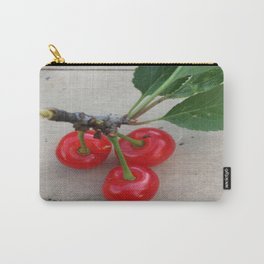 Cherries 3 On a Leaf Carry-All Pouch