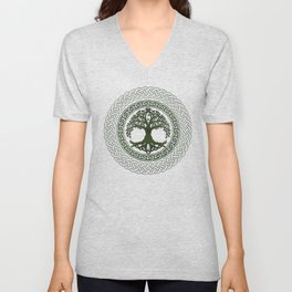 Celtic Tree Of Life Unisex V-Neck
