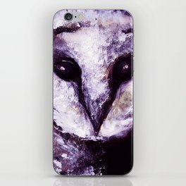 Barn Owl Painting by Lil Owl Studio iPhone Skin