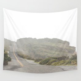 Foggy Ocean Drive Wall Tapestry