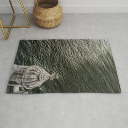 Belem Tower in the sea Rug