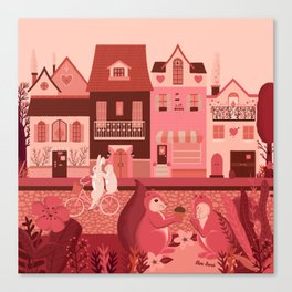 Neighborhood of love Canvas Print