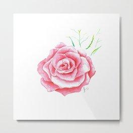 Rose Aquarell Metal Print