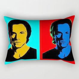 Jared Padalecki Pop Art Rectangular Pillow