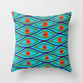Their Eyes - Police Strobe Throw Pillow