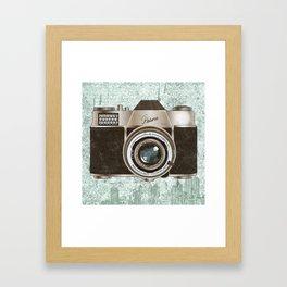 Green Vintage Camera Art Framed Art Print