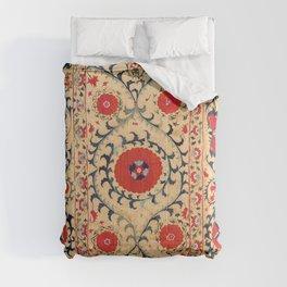 Samarkand Suzani Bokhara Uzbekistan Floral Embroidery Print Comforters