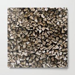firewood pattern Metal Print