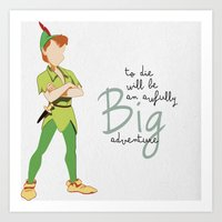 Peter Pan Graphic (with Quote) Art Print