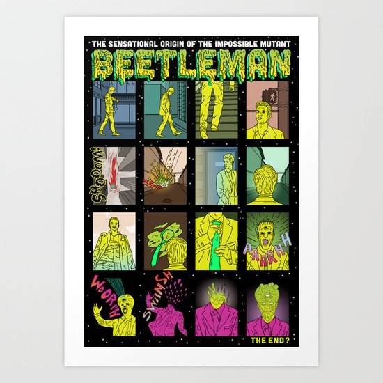 Beetleman Origin Art Print