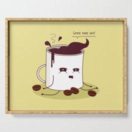 Coffee Mug Addicted To Coffee Serving Tray