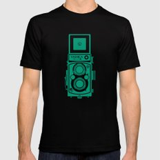 Yashica Mat 124G Camera Emerald MEDIUM Mens Fitted Tee Black