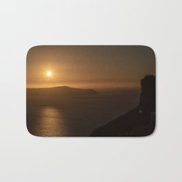 Golden Hour in Santorini Bath Mat