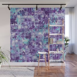 Purple Grime Foral Wall Mural