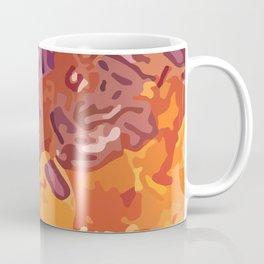 Decorative background, spotty abstraction, orange-violet Coffee Mug