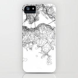Hong Kong White Map iPhone Case