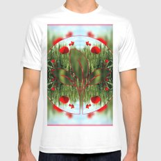 Poppies Mens Fitted Tee MEDIUM White