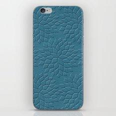 Leather Look Petal Pattern - Niagara Color iPhone & iPod Skin