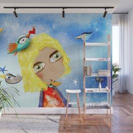 Kids Illustration Sky Stars Doll - Australia Home Decor - Clothing - Ruth Fitta-Schulz Art 2018 Wall Mural