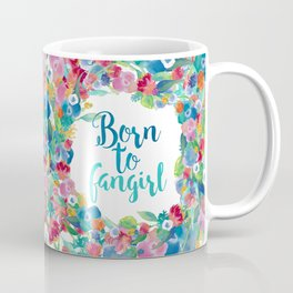 Born to fangirl - Blue Coffee Mug