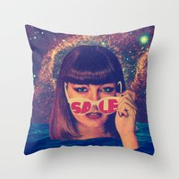 sale Throw Pillows featuring Sale! by Serra Kiziltas