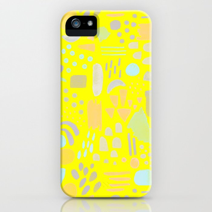 Dancing shapes iPhone Case
