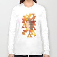 coachella Long Sleeve T-shirts featuring Geometric Penguin by Joel M Young