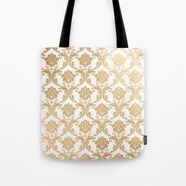 Gold swirls damask #4 Tote Bag