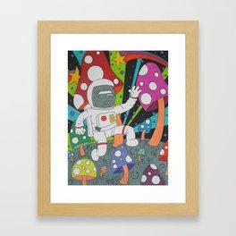 Moon Shrooms Framed Art Print