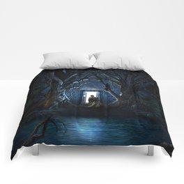 Tardis Nightmare Forest Comforters