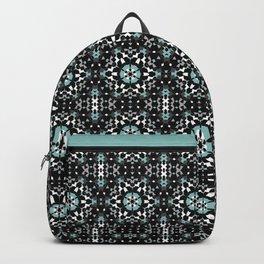 Black, blue, ornament Backpack