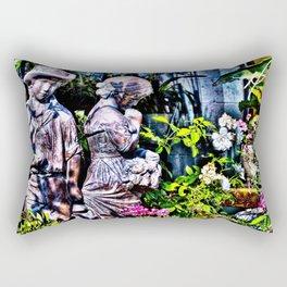 Garden Sculpture Rectangular Pillow