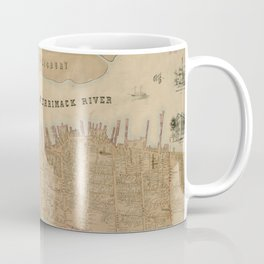 Vintage Map of Newburyport MA (1851) Coffee Mug