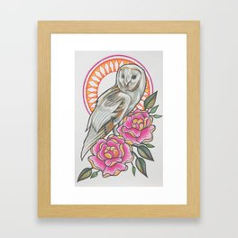'OWL' - Ruth Priest Framed Art Print