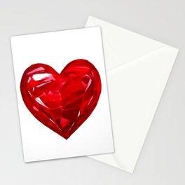 Garnet Heart Stationery Cards