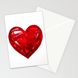 Garnet Heart Stationery Cards