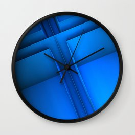 Clean Lines (Blue) Wall Clock