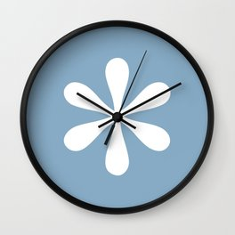 asterisk sign on placid blue color background Wall Clock