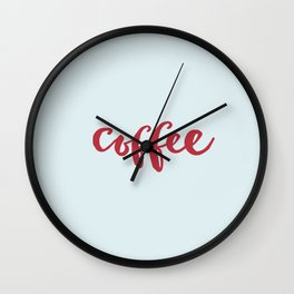 RED COFFEE Wall Clock