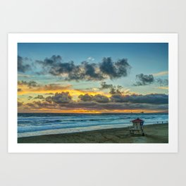 Clouds Over Tower 2 at Sunset Art Print
