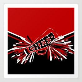 Dark Red Cheerleader Spirit Art Print