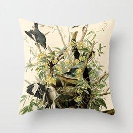Mockingbirds and Rattlesnake Throw Pillow