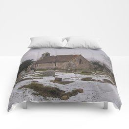 Seasalter Old Church In Winter Comforters
