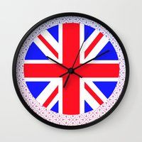 uk Wall Clocks featuring UK by the power of Mars
